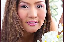 Thai Girl Emily Hook Strips And Plays With Toy