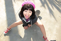 Skater Girl Xhivi Kim Flashing Outdoors And Fucking Big Cock