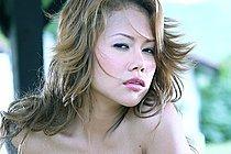 Beauty Cherry Chen Stripping Outdoors Wearing High Heels