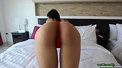 Ass Raised In Thong Panties