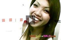 Pretty Thai girl Nat sucks and fucks white guy